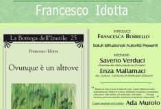 """27 Ottobre 2018: Presentazione del libro di F. Idotta """"Ovunque è un altrove"""""""